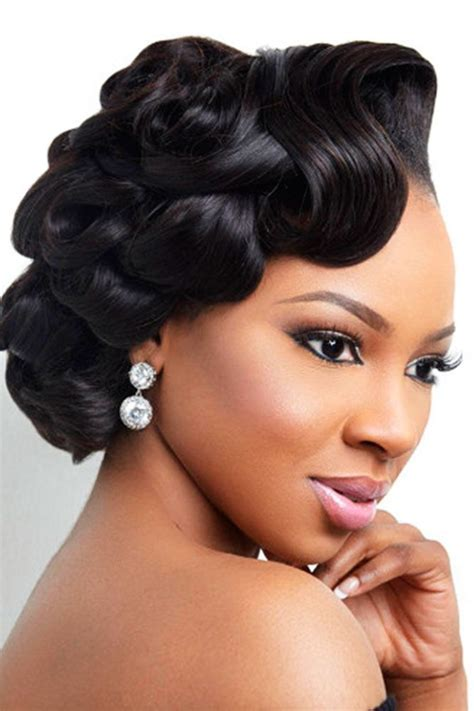 42 Black Women Wedding Hairstyles   Hair   Black wedding