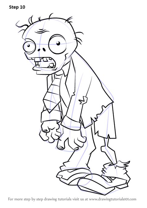 zombie sketch tutorial learn how to draw zombie from plants vs zombies plants