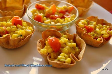 fillings for canapes flavours and tastes baked and filled khakhra cups