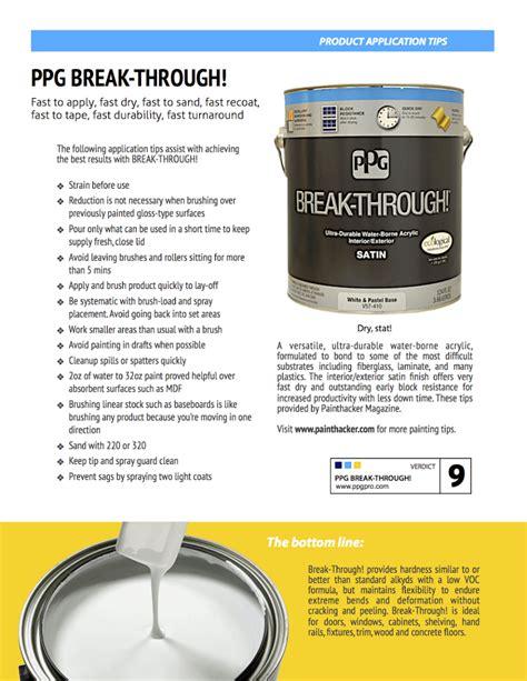 ppg through application tip sheet pauhl maximum painting
