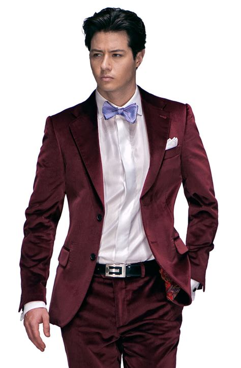 Square Buckle Velvet Belt Maroon italian wedding suits model g31 384 ottavio nuccio