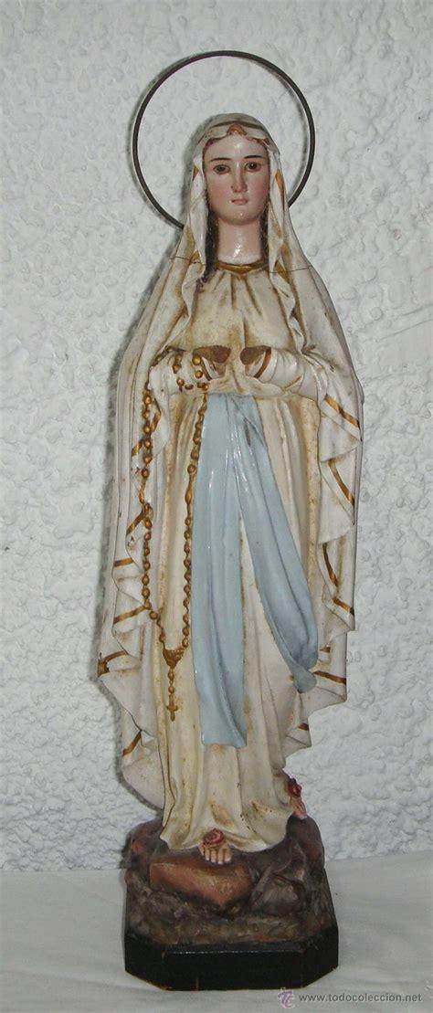 Imagenes Religiosas Todocoleccion   antigua figura religiosa virgen de lourdes pas comprar