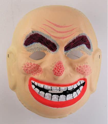 vintage topstone smiling creepy man halloween mask