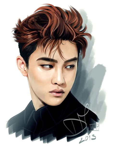 anime do kyungsoo exo 226 best images about exo drawing on bristol