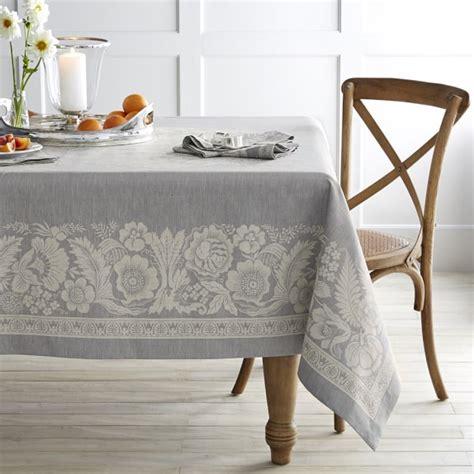 vintage floral jacquard tablecloth 70 grey williams