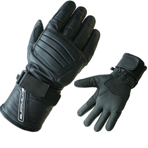waterproof leather motorcycle buffalo radar leather waterproof motorcycle gloves thermal