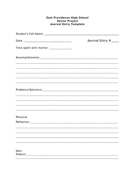 entry journal template for word best photos of journal template for students student
