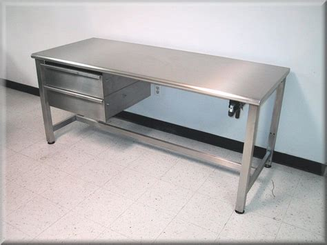 stainless steel shop desk image gallery metal workstations