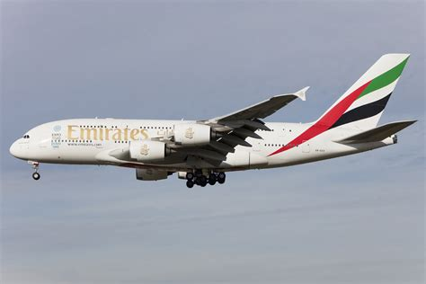 Emirates Germany   emirates a6 edx airbus a380 861 08 11 2015 fra