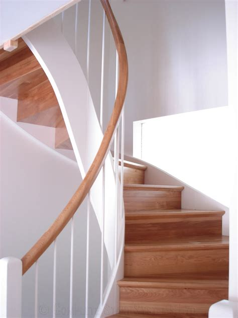 New Staircase Bespoke Timber Staircase New Forest With Swooping Curved