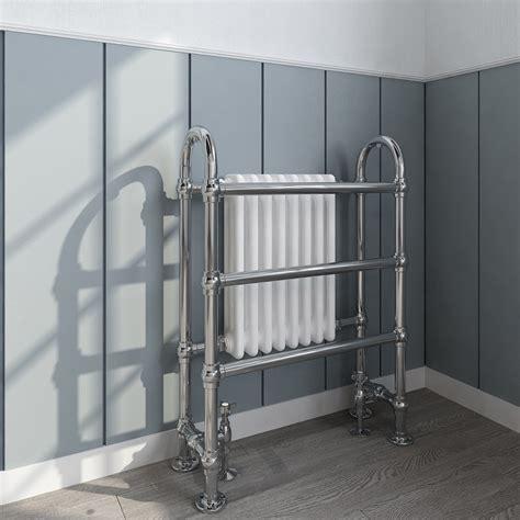 victorian style bathroom double heated towel radiator rail