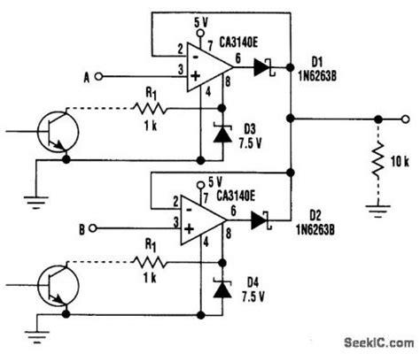 analog switch integrated circuit analog switch switch control control circuit circuit diagram seekic