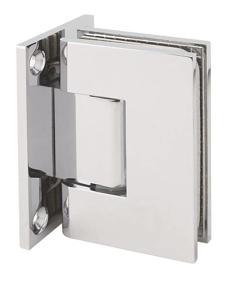 Shs037l Cp 0c Wall To Glass Square Shower Door Hinge In Glass Shower Door Hinges