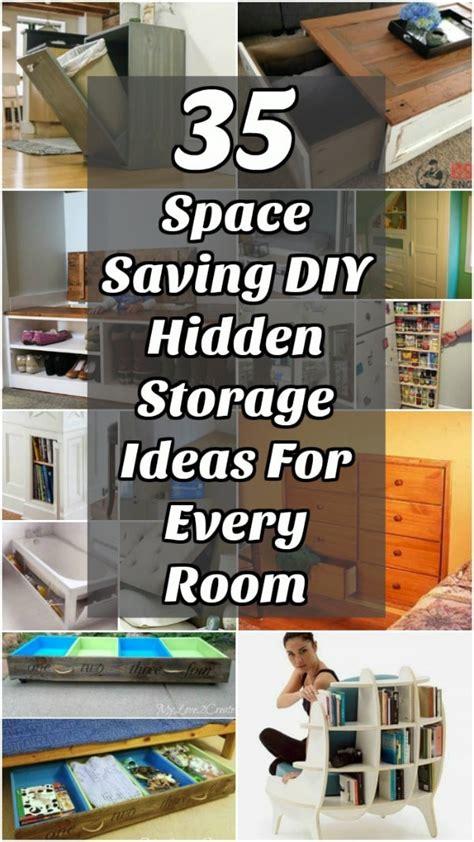 space saving diy hidden storage ideas   room diy crafts