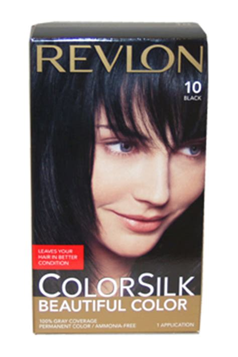 Revlon Colorsilk 10 Black 320910 colorsilk beautiful color 10 black by revlon perfume emporium hair care