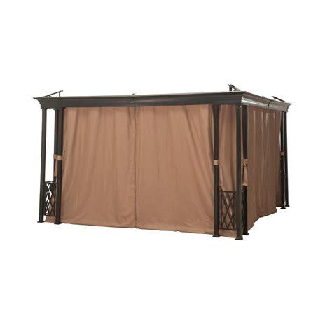 outdoor gazebo curtains home depot sunjoy universal curtain for 12 ft x 12 ft gazebos