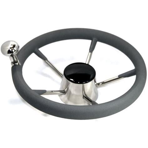 Steering Wheel Knob Marine by A3 5 Spoke 11 0 Quot Ss Ss W Brodie Knob Grey Grip