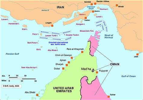 middle east map strait of hormuz strait of hormuz maps the gulf 2000 project sipa