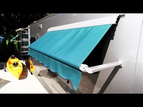 how to install window awnings how to install an rv window awning a e dometic how to save money and do it yourself