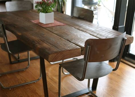 reclaimed wood dining table diy projects