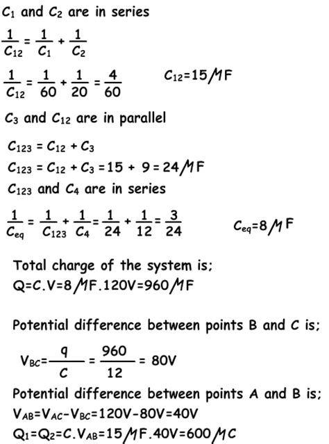 difference between capacitor in parallel and series capacitors in series and parallel