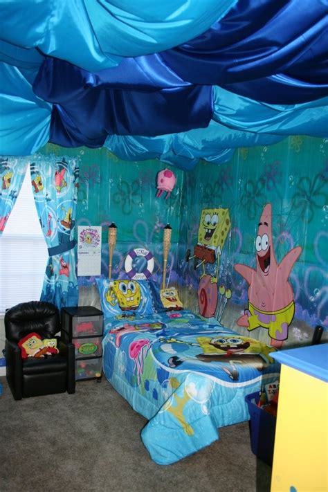 spongebob bedroom ideas spongebob bedroom boy bedroom makeover pinterest