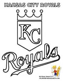 kansas city royals colors big baseball coloring sheet american league teams