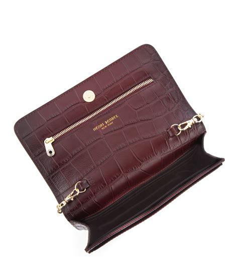 Croco String Rotelli Shoulder Bag lyst henri bendel carlyle croc wallet on a string in brown