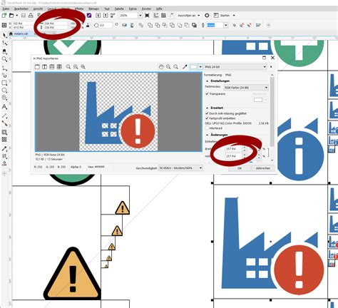 coreldraw community wrong image size when exporting to png coreldraw x8
