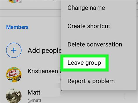 how to leave a message on android how to leave a chat on messenger on android