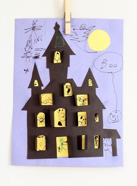 haunted house craft haunted house craft for kids halloween pinterest