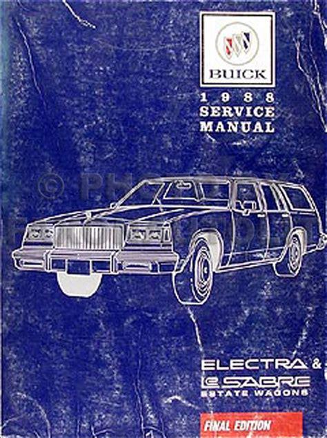 car repair manuals download 1991 buick lesabre electronic throttle control 1988 buick electra lesabre estate wagons repair shop manual original