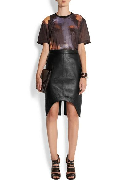 givenchy black leather pencil skirt net a porter