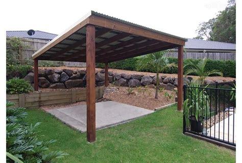 simple pergola design with metal roof garden ideas