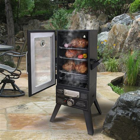 Kitchen Island Cart With Stainless Steel Top smoke hollow 36 quot two door lp gas smoker