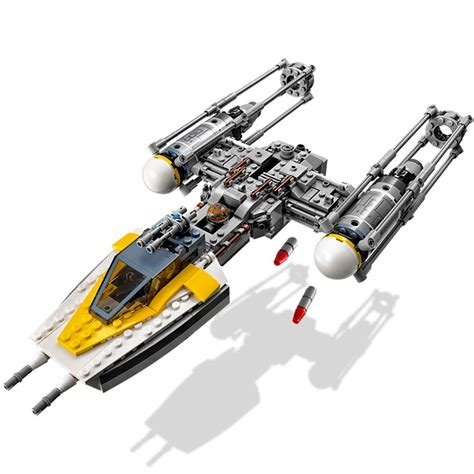 y figures lego wars y wing starfighter 75172