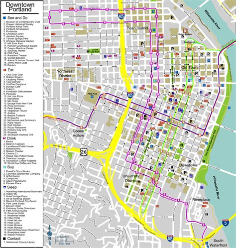map of portland portland maps free printable maps