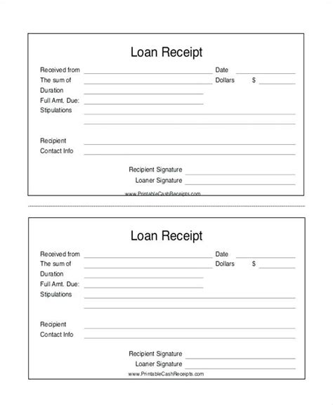 Acknowledgement Letter Loan loan receipt sle loan payment receipt template cover