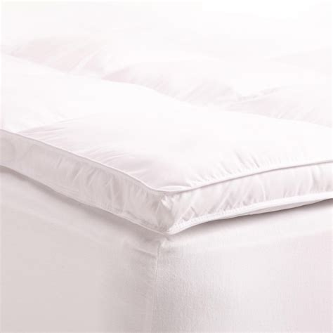 feather bed topper queen featherbed protector duckgoose down premium hotel