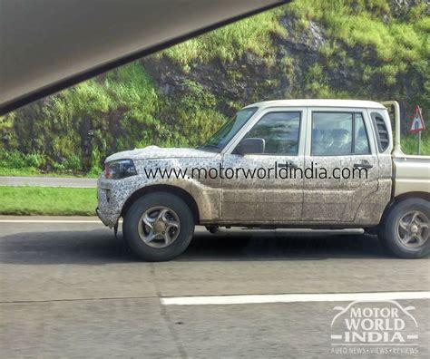 Lu Led Motor Scorpio mahindra scorpio getaway update spotted pics changes inside