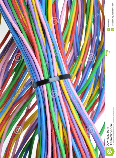 electric colored wires stock photo image 46484473