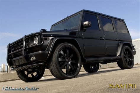 mercedes g wagon matte black matte black mercedes g wagon on savini sv 28s wheels