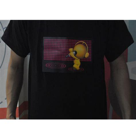 Led T Shirt Disco Model Size S Black Led T Shirt Disco Robot Model Size S Black