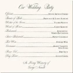 wording for wedding ceremony wedding programs exles colored wedding dresses
