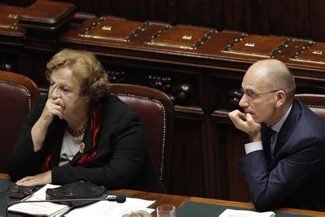 ministro della giustizia governo letta letta blinda la cancellieri quot la sfiducia a 195 168 la