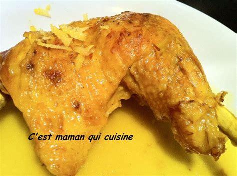 poulet au citron facile c est maman qui cuisine