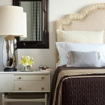 cream and brown bedroom dark gray upholstered bed design ideas