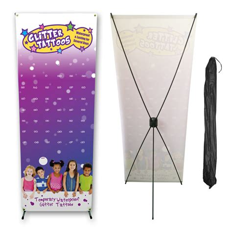 pop up banner amp stand temporary tattoo store