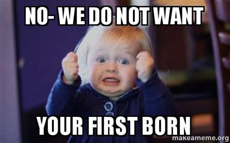 Do Not Want Meme - no we do not want your first born make a meme