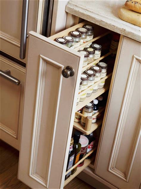 Pull Out Spice Rack Cabinet by Craftionary